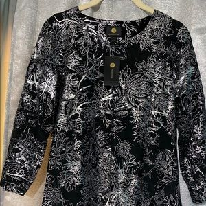 JM Collection Jacquard Top